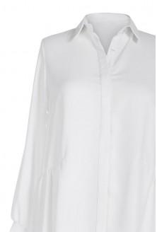 Długa koszula damska ANNABEL - kolor CIEPŁA, KREMOWA BIEL