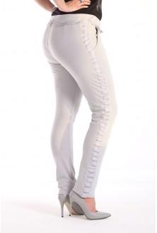 Szare spodnie dresowe z lampasem MOLY