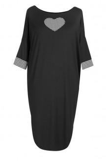 Czarna sukienka / tunika z serduszkiem EVELINA