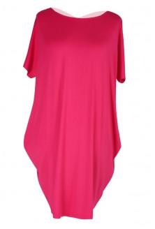 Różowa tunika / sukienka z krzyżykiem na plecach GLORIA