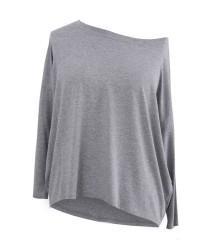 Dzianinowa bluzka oversize ERIN jasny szary (melanż)