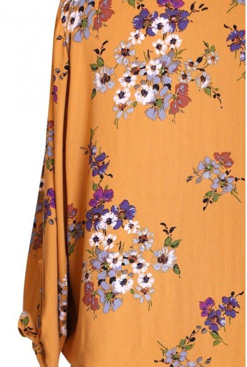 MIODOWA bluzka w kwiatki - KELLY