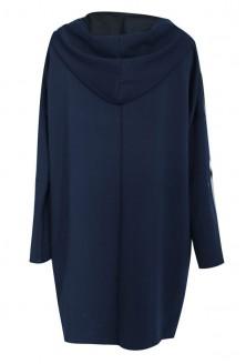 Granatowa narzutka / bluza w dużych rozmiarach - MILA