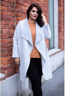 Szary długi płaszcz / narzutka OLGA