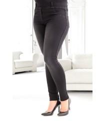 Czarne spodnie jeansowe na gumkę duże rozmiary JUSTINE