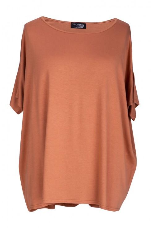 Bluzka oversize w kolorze camelowym DAGMARA