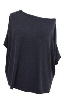 Grafitowa bluzka oversize DAGMARA II (ciepły materiał)