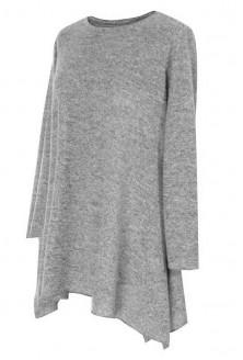 Jasnoszara asymetryczna tunika - MARY