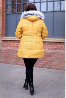 Żółto-miodowy płaszcz pikowany  PUMA II