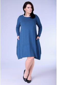 Morska ciepła sukienka HANNAH