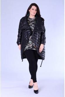 Czarna kurtka z przeszyciami DINAH
