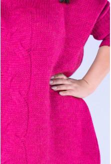 Różowy sweter z warkoczem AGNIESZKA