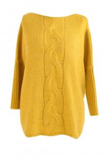 miodowy sweter na zimę xxl