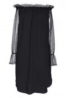 Czarna sukienka z koronką - MERRY