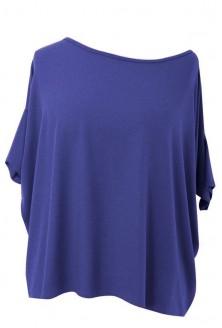 Kobaltowa bluzka oversize DAGMARA II (ciepły materiał)