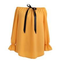 Miodowa bluzka damska NINA