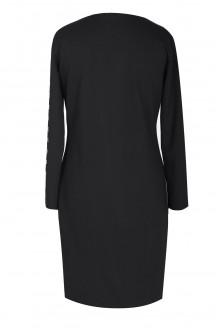 Czarna sukienka z kółkami ELISA