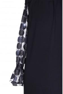 Czarna sukienka grochy - MIRELLE