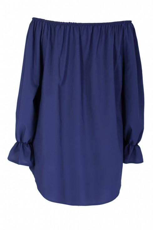 Granatowa bluzka damska NINA