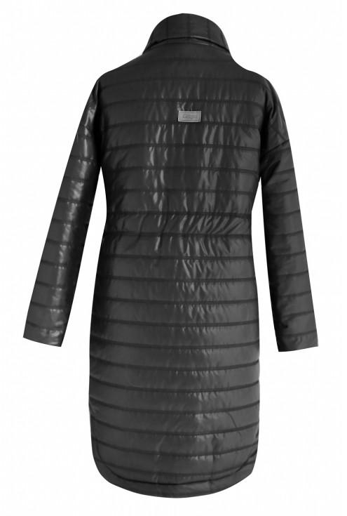 Długa czarna kurtka REBECCA