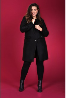 Czarny klasyczny płaszczyk BRIDGET