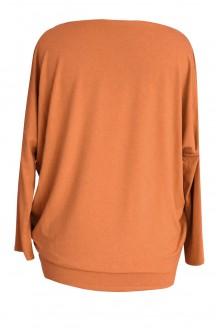 KARMELOWA bluzka tunika BASIC (ciepły materiał)