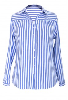 Koszula w biało-niebieskie paski - MURIEL