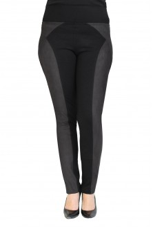Uniwersalne czarne legginsy z pasem z zamszu PATTY