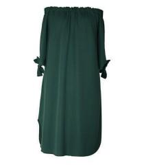 Sukienka hiszpanka - MARITA kolor ciemnozielony