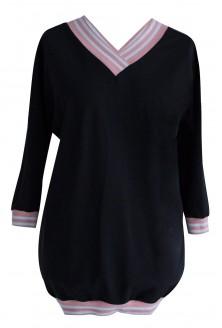 Czarna dresowa bluza ze ściągaczem PUDER - INA