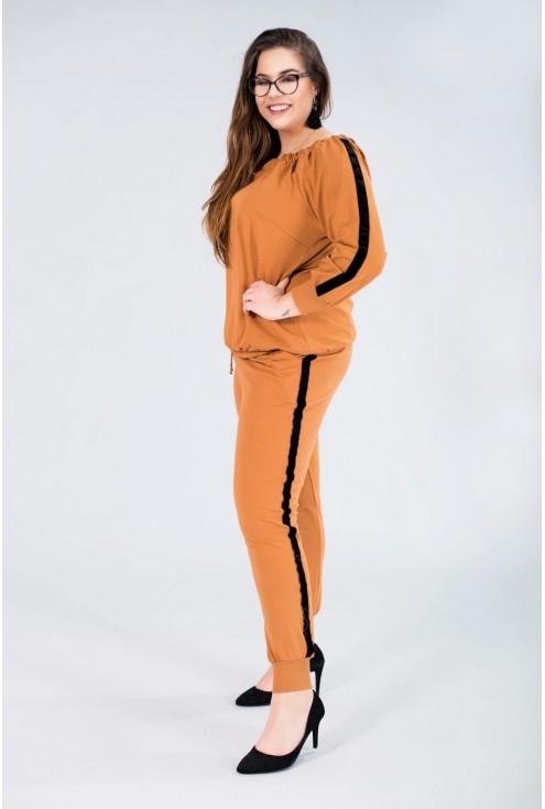 Spodnie dresowe ze ściągaczem POLA - TOFFI