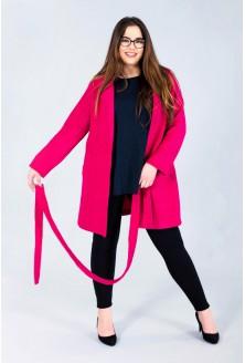 Różowy płaszcz wiązany HAZEL