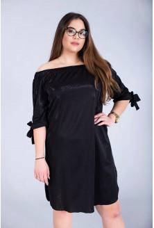 Sukienka hiszpanka - MARITA czarna BŁYSK