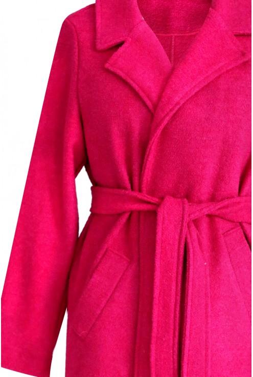 Różowy płaszcz wiązany ARLES