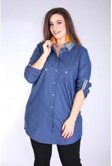 Koszula z podwijanymi rękawami SINDI PASKI - jeansowy