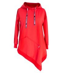 Czerwona bluza z kapturem SKOS SAAB