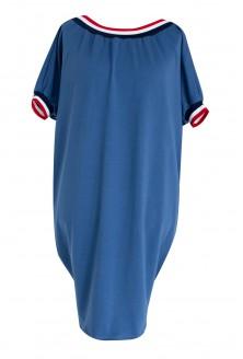 sukienka ze ściągaczem kolor jeansowy