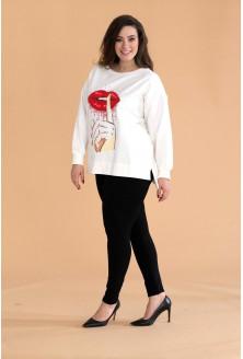 Kremowa bluza USTA