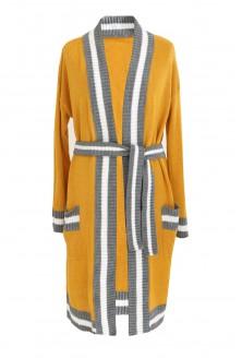 miodowy sweter wiązany w pasie xxl