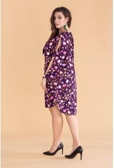 Fioletowa sukienka w kwiaty VIOLET