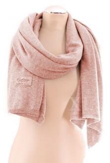 Pudrowo-różowy szal z kaszmiru i wełny
