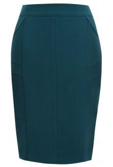 Zielona spódnica w dużych rozmiarach KLAUDIA