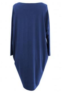 Sukienka oversize z długim rękawem KOBALT - SUSAN 2