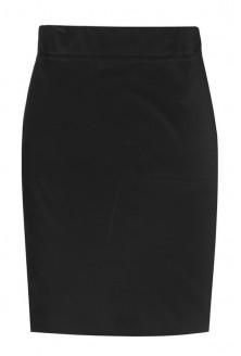 Czarna dzianinowa spódniczka z gumką - AUDREY