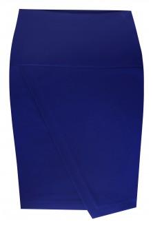 Chabrowa dzianinowa spódnica z zakładką z tyłu PEGGY
