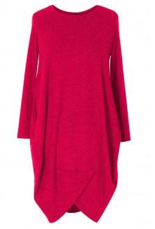 Czerwona sukienka z wiskozy LUCY 2 (ciepły materiał)
