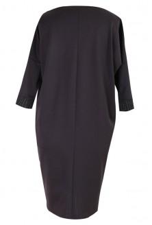 Czarna sukienka z błyszczącymi dodatkami- VERONICA
