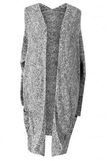 Długi jasnoszary sweter SOPHY