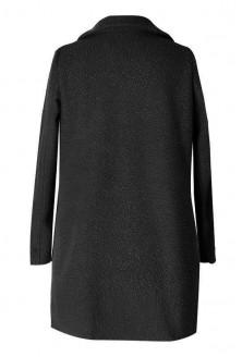 Czarny płaszcz z dużymi kieszeniami ESTELLA