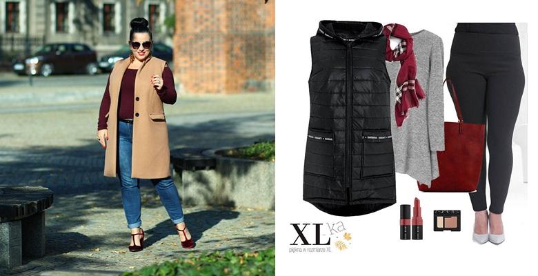 bf3eab4ba0ea4d W sklepie XL-ka kamizelki w dwóch wariantach: pikowana w kolorze czarnym i  granatowym oraz elegancka w jaśniejszych kolorach: szarość i modny w tym  sezonie ...